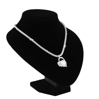 Fashion 925 Sterling Silver Double Heart Pendant Necklace Chain Women Jewelry UK - 3