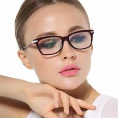 PHP 553. Fashion Glasses Frame Rectangle Glasses WineRed Frame Glasses Plastic Frames Plain for Myopia Women Eyeglasses Optical ...