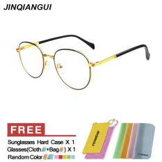 Fashion Glasses Frame Vintage Retro Round Glasses Gold Frame Glasses Titanium Frames Plain for Myopia Men