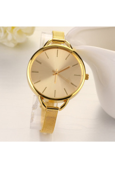 Fashion Luxury Gold/Silver Quartz Lady Women Wrist Watch (Golden)