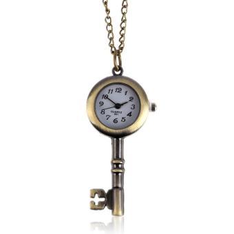 Fashion Quartz Pocket Watch Pendant Necklace (Brown)