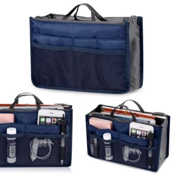 Fashion Women Multifunction Travel Cosmetic Makeup Insert Pouch Toiletry Organizer Handbag Storage Purse - 2