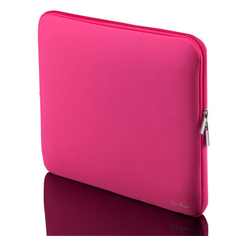 Fashion Zipper Soft Sleeve Laptop Bag for MacBook/iPad 14-INCH PINK - Intl