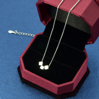 Feelontop New Design 925 Silver Chain Necklaces for Lady - Intl - 3