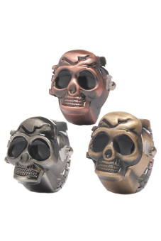 Finger Ring Watches Quartz Skull Mixed Size7 (17.5mm) 3Pcs