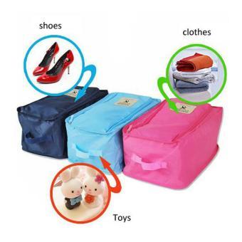 Foldable Travel Shoe Organizer (Sky Blue) Set of 3 - 2