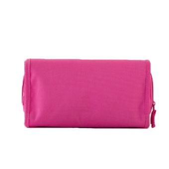 Folded Travel Hanging Cosmetic Organizer Bag (Pink) - 2