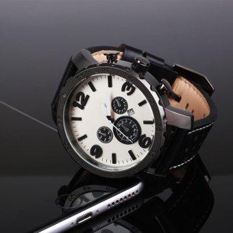 Fossil Luxury Men's Automatic PU Leather Analog Quartz Wrist Watch Gift silvery - intl - 4