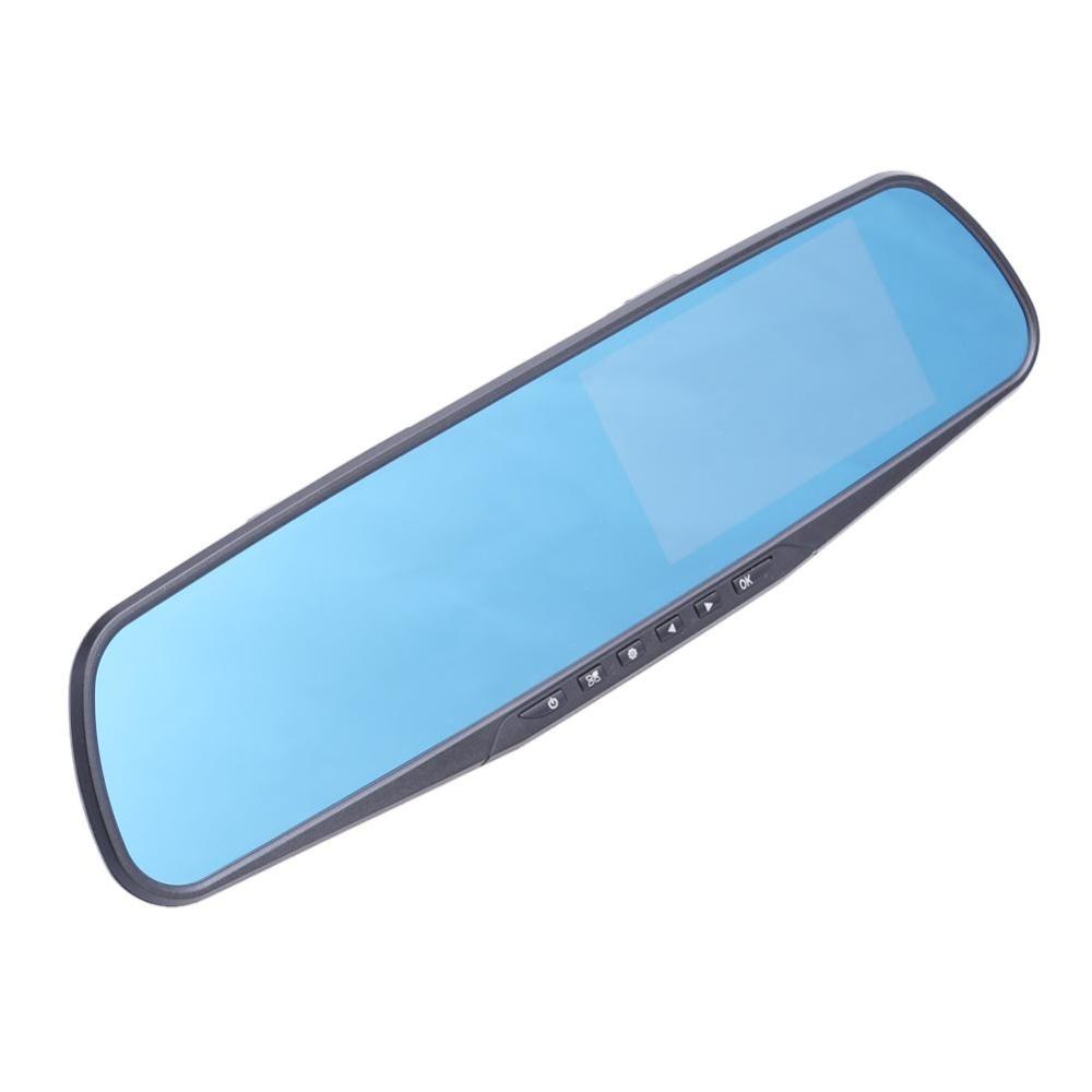 ... Full HD 1080P 4.3 inch Dual Lens Car DVR Rear View Mirror Dash Cam Video Camera ...