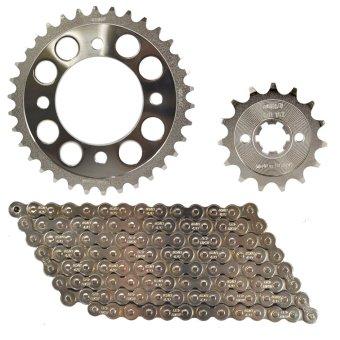 Fury125R (6 Holes) 14-34X420X110 Osaki Revo Chain Set (Chrome)