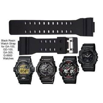 G Shock Replacement Black Resin Matte Strap - picture 2