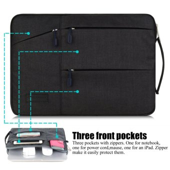 GEARMAX 14 Inch laptop sleeve for Acer/Dell/Lenovo/Asus/HP withHandle(Black) - intl - 3