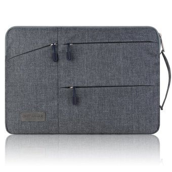 Gearmax(TM) Travellers Multi-functional Nylon Water Resistant withSide Pockets Laptop Handbag for 13.3 Inch Macbook Air Pro /Notebook / Surface / Dell Sleeve Case Cover Bag (13.3 Inch,Gray) -Intl - 4