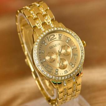 Geneva 299 Women's Gold Stainless Steel Strap Watch