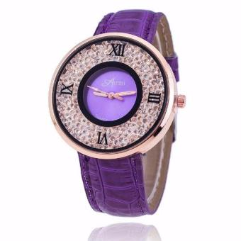 Geneva Amni Women's Leather Strap Watch