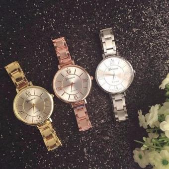 Geneva Cherry Classic Roman Numerals Slim Watch (Rosegold) - 2