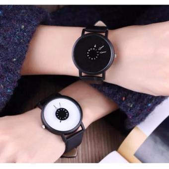 Geneva Couple Gravity Watch (Black and White)