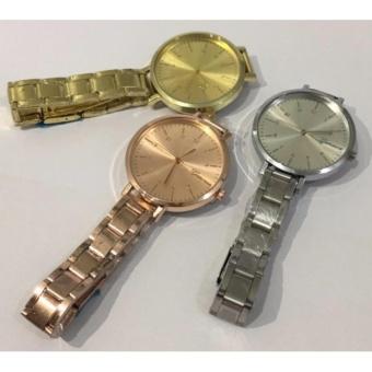 Geneva Flory Slim Belt Woman's Wrist Watch (Silver) - 2