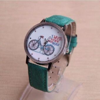 Geneva I Want to Ride my Bike Watch (Green)