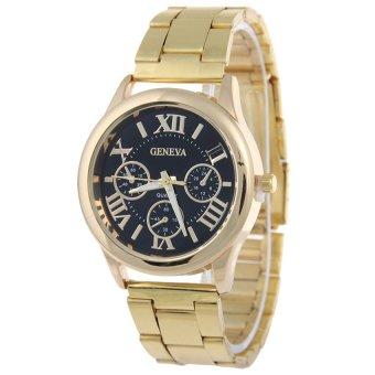 Geneva Roman Numerals Women's Gold Steel-belt Watch SY-3 - picture 2