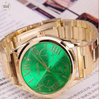 Geneva SY-3 Roman Numerals Women's Gold Steel-belt Watch - 2