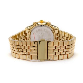 Geneva Unisex Gold Metal Strap Watch GENV-154-GLD-ROMAN - picture 2