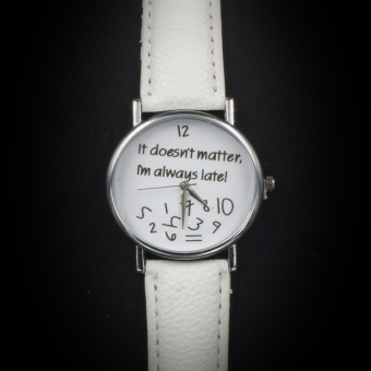 Geneva Women's Casual Watch Doesn't Matter White Leather Strap GE008Q - 2