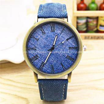Geneva Women's Classic Minimalist Casual Denim Style LeatherColored Strap Watch