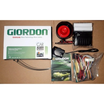 Giordon G5 Car Alarm Security System 360 Protection with 2 Remote Controls