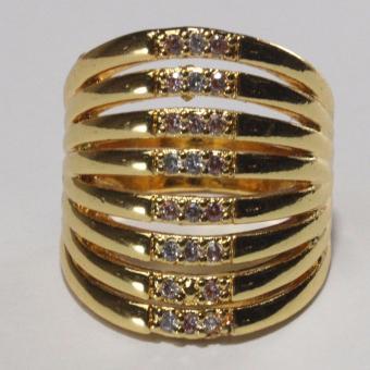 Glamorosa Huge Vintage Cocktail Ring (Gold) - 2