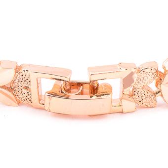 Glamorosa Leafy Leaf Chain Bracelet (Gold) - 3