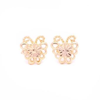 Glamorosa Monarch Butterfly in 14K Gold Platted Stud Earrings (Gold) Buy 1 Take 2 Assorted Earrings - 2