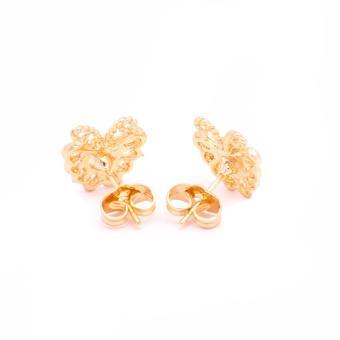 Glamorosa Monarch Butterfly in 14K Gold Platted Stud Earrings (Gold) Buy 1 Take 2 Assorted Earrings - 4