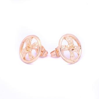 Glamorosa Round Ribbonized Stud Earrings (Gold) Buy 1 Take 2 - 3