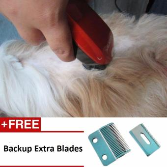 GM05 High-Powered Dog Razor Trimmer With Free Extra Blades ElectricHair Clipper Fur Shearer and Shaver for Pets (Orange) Price Philippines