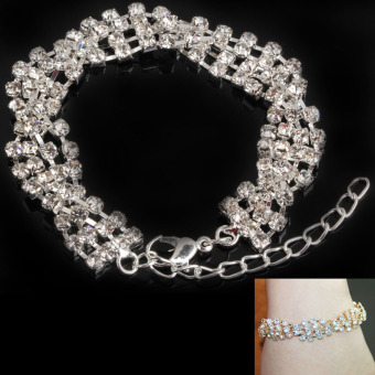 Gorgeous Dazzling Twisted Crystal Rhinestone Bangle Bracelet Shining - picture 2