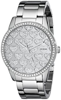 Guess Women's Silver Tone Stainless Steel Strap Watch U0536L2