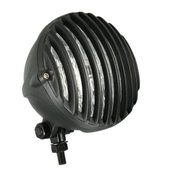 H4 12V 55W 5-inch Motorcycle Scalloped Headlight with GrilleLampshade for or Harley Chopper Bobber - intl - 3