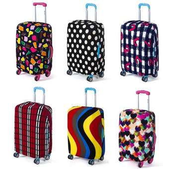 Ha nyu Stretchable Elastic Travel Luggage Suitcase ProtectiveCover- Polygon Design S Size - intl - 4