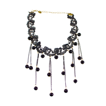 Halloween Party Lace Necklace Pendants Jewelry Supplies (Intl) - picture 2