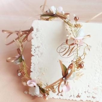 Handmade Lace Bowknot Headbands Lace Flower Pearl Bridal TiarasHair Accessories Hair Jewelry Wedding Bowknot Head Band - intl - 4