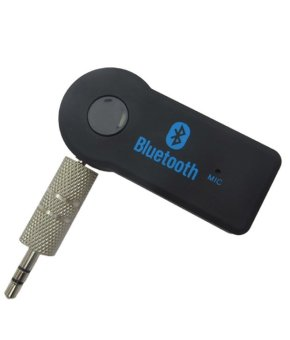 Hands-Free 3.5 mm Car Bluetooth Wireless Music Receiver with Mic & Stereo Output