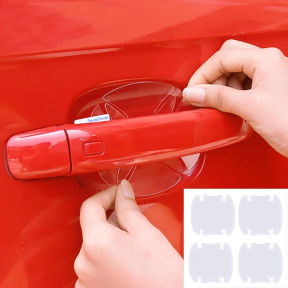 Hang-Qiao 4Pcs Vinyl Stickers Universal Door Handle Bowl Protective Film (