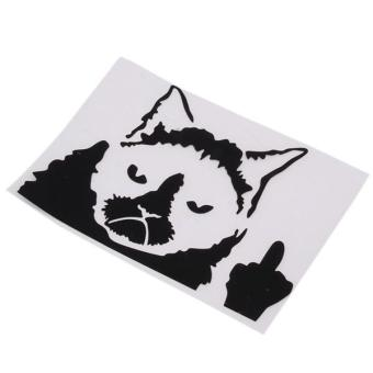 Hang-Qiao Grumpy Cat Funny Car Stickers Decals Black