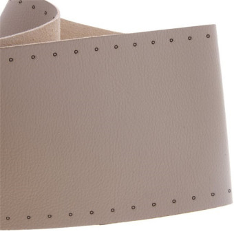HANG-QIAO Hand-stitched Leather Steering Wheel Cover Beige - picture 2