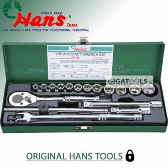 "Hans Tools 3617-A 3/8"" Drive 17 pcs. Heavy Duty 12 Points Socket Wrench Set (1/4"" - 7/8"")"