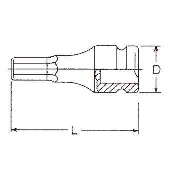 "Hans Tools 86016M-19mm 3/4"" Drive Impact Hex Bit Socket (Black) - picture 2"