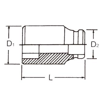"Hans Tools 86400M-39mm 3/4"" Drive 6 Points Impact Socket (Black) - picture 2"
