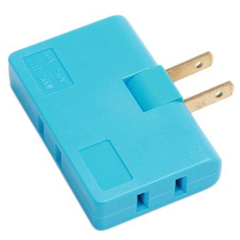 Hanyu Rotatable Conversion Plug Convenient Portable Plug Blue - picture 2