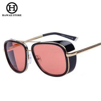 HAWAII IRON MAN 3 Matsuda TONY Steampunk Sunglasses Men Mirrored Designer Brand Glasses Vintage Sun glasses